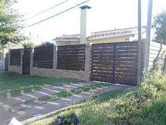 rejas, portones, cerramientos perimetrales, hierro y madera. Compound Wall, Security Gates, Side Gates, Boundary Walls, Exterior, Ideas Para, Sweet Home, Villa, Outdoor Structures