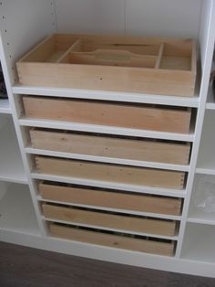 DIY jewelry storage idea using IKEA cutlery trays. With these solutions, you're going to need more to organize, so head to TreborStyle.com