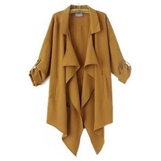 Chicnova Fashion Pure Color Splicing Coat