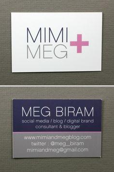 Mimi + Meg / Meg Biram  www.mimiandmegblog.com Meg Meg, Blink Of An Eye, Unique Business Cards, Color Combos, Card Making, Branding, Social Media, Design, Colour Schemes