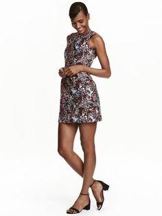 H&M fall jacquard wedding guest dress
