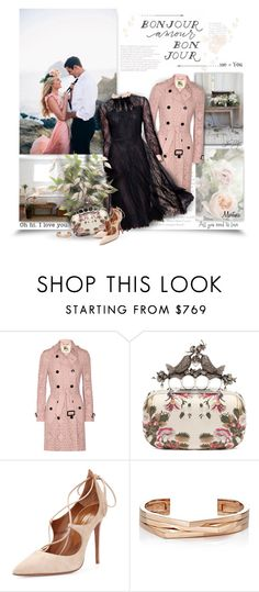 """Bonjour  Mon Amour"" by thewondersoffashion ❤ liked on Polyvore featuring Burberry, Alexander McQueen, Aquazzura, Repossi, women's clothing, women, female, woman, misses and juniors"