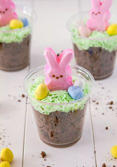 Bunny Dirt Cups (LOL, I should have found the pin before I made mine. I didn't remember this correctly at all...) #CafePress #CPSpring