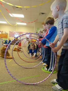 Lion Tamer - crawling through hoops for circus week