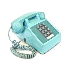 Turquoise Push Button Western Electric Phone by worldvintage