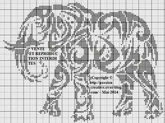 Bonjour, Me revoilou parmis vous avec cette grille d'un éléphant tribal. J'espère qu'elle vous plaira. Passez une bonne journée A bientôt