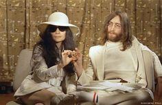 Yoko Ono Wedding Hat