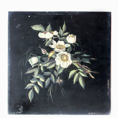 Antique French Oil Floral Painting Cream Flowers~Image via French Garden House. White Roses, White Flowers, French Paintings, Flower Paintings, Victorian Flowers, Cream Flowers, Passion Flower, Design Girl, Flower Images