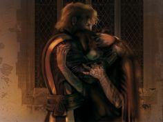 Richard and Kahaln _ Hug Of Fear by LoenGraf.deviantart.com on @deviantART