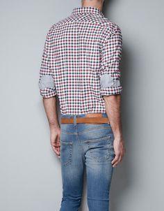 chemise avec coudi res contrastantes chemises homme. Black Bedroom Furniture Sets. Home Design Ideas