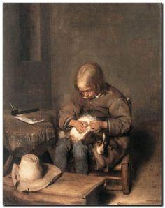 Gerard ter Borch, genoemd de Jonge - mypainting http://www.mypainting.nl/webshop/104608-Gerard-Terborch-Jr