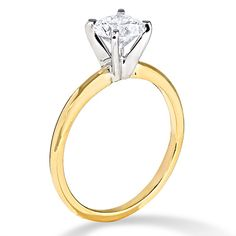 1 CT. Diamond Solitaire Engagement Ring in 14K Gold - Zales