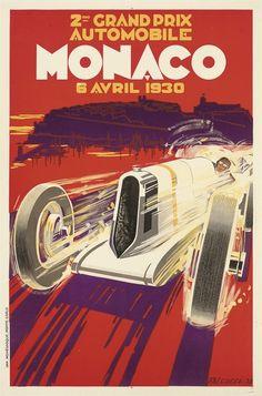 Grand Prix Automobile Monaco 1930 #classic #car #poster