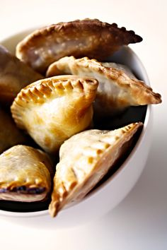 Baked Apple #Empanadas with sweet guava sauce #recipe. I like them for the finger food table. Diferent & yummy..:)