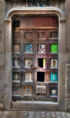 wooden collage door