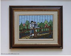 Anne and Gilbert's First Kiss. Mosaic Wall Art (13.5 x 16.5 inches). Made with vitreous glass tiles on a wood board. #JoGranadosMosaics #JohannaGranadosMosaics #AnneOfGreenGables #AnneOfTheIsland #AnneAndGilbert #LucyMaudMontgomery