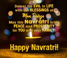 Happy Navratri wishes and messages. Double the joy of Navratri for your friends, families and close ones by sending them wonderful Navratri wishes message. Navratri Wishes Images, Navratri Messages, Happy Navratri Wishes, Happy Navratri Images, Chaitra Navratri, Navratri Festival, Wish Quotes, Happy Quotes