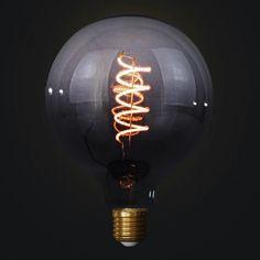 Edison Soft žiarovka BLACK-TRANSPARENT SPHERE Light Bulb, Pastel, Led, Retro, Black, Home Decor, Italia, Cake, Decoration Home