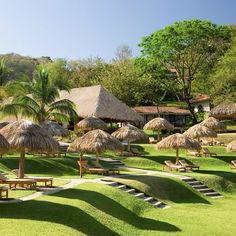 #Tiki hut party anyone?! ??The #spa gardens at Hilton Papagayo #Allinclusive #Resort! @HiltonCostaRica
