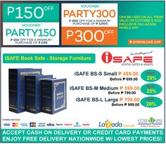 Office Furniture Lazada S Party Pocket Promo Save P150 Up To P300 Off On Isafe Book Safe Storage Use Voucher Code Party150