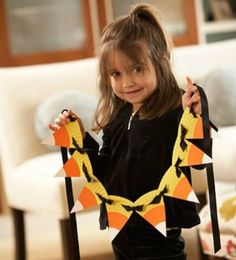 halloween-crafts, candy corn garland, decoration for day program?