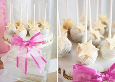 Cake pops at a Pink Hollywood Glam Party with Lots of Really Cute Ideas via Kara's Party Ideas | KarasPartyIdeas.com #GirlParty #HollywoodGlamParty #PartyIdeas #Glam #PartySupplies #CakePops