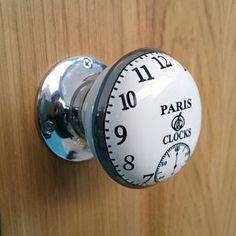 Vintage Interior Turning Paris Clock Mortice Door Knobs