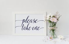 Instant Download Navy Please Take One Sign by IrresistibleInvites1