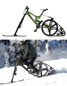 Ktrack snow bike http://www.blessthisstuff.com/stuff/sports/radical-sports/ktrack-snow