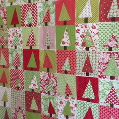 These 56 #holidaypatchworkforest blocks, plus the 24 I'll be swapping for the #bcchristmasinjuly party, should make a happy, bright Christmas quilt. Such a quick and easy tutorial by #diaryofaquilter. My only worry is that it's too busy. Should I put them in groups of 4 and sash them? Or leave them? #bonnieandcamille #christmasquilt