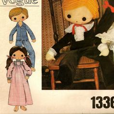 A Boy and Girl Doll, and Day 'n Night Wear Clothing Pattern