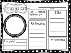 First Day of School Activities Pack-- have them all in a binder at writing station so kids can write letters!