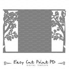 Bride & Groom Tree Bird wedding card COVER love by EasyCutPrintPD