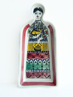 Large Swedish ceramic woman platter from Anita Nylund Janssons Frestelse Jie…