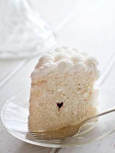 Tiny heart surprise inside cake