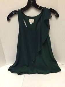 Anthropologie-Greylin-Sleeveless-Top-Green-Size-Small-Silk