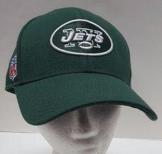 3e2d92c55ce0d NFL Football Reebok New York Jets Hat NY Green Strapback Cap One Size   Reebok