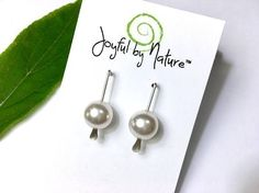 Pearls & sterling silver earrings. Handmade. Choice of stones. https://www.etsy.com/JoyfulByNature/listing/461620496/modern-earrings-5-styles-pearl-earrings?utm_content=buffer132df&utm_medium=social&utm_source=pinterest.com&utm_campaign=buffer #etsymntt #earrings #pearls