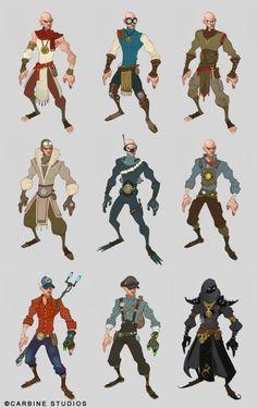 Corey Loftis. Variant costumes