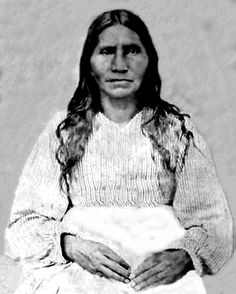 Old photograph of a Choctaw woman. I tried desperately to restore this photograph taken in 1868.