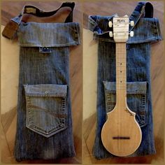 Ukulele case made from recycled denim. No instructions, but seems simple.