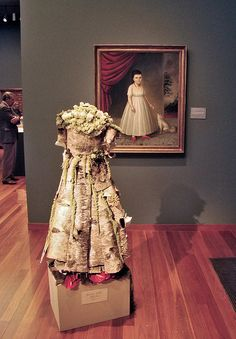 DSC04323 Bouquets to Art 2009 birch bark dress by godutchbaby, via Flickr