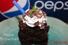 ~Pepsi Brownies..and a Pepsi GIVEAWAY!  :)