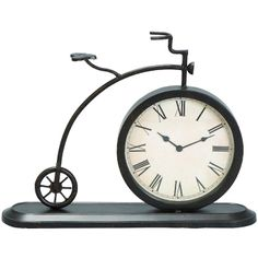 0e62e25efc6 Penny Farthing Desk Clock at LinenTablecloth. Penny Farthing Desk Clock is  a vintage wrought iron penny farthing model bicycle clock.