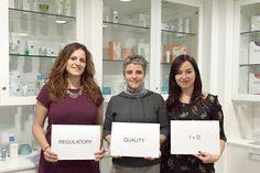 Our team of Regulatory (Elia Fernández), Quality (Mireia Niubó) and Research & Development (Maria Río).  // Os presentamos nuestro equipo de  Regulatory (Elia Fernández), Calidad (Mireia Nuibó) y Investigación & Desarrollo (María Río).