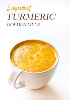 """Healthy Recipes : Illustration Description 3 ingredient GOLDEN MYLK latte using a special turmeric powder and almond milk! Simply Quinoa """"Nothing will work unless you do"""" ! -Read More – Milk Recipes, Snack Recipes, Healthy Recipes, Keto Recipes, Snacks, Healthy Foods To Eat, Healthy Drinks, Healthy Eats, Milk Powder Recipe"""
