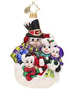 Christopher Radko Snowman Family Portrait Ornament