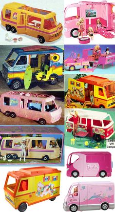 Barbie Dolls : Image : Description Outfitted with dozens of cool amenities from flushing toilets and roof top patios to jacuzzis, Barbie is the original glamper. In addition to a personal Barbie 80s, Barbie Camper, Barbie Vintage, Barbie World, Vintage Dolls, Barbie Stuff, Vw Camper, Barbie Furniture, Camping Barbie
