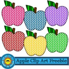 Who doesn't love some fun dotty apples? Art Clipart, Flower Clipart, Classroom Clipart, School Clipart, Planner Stickers, Printable Halloween, Vintage Clip Art, Apple Clip Art, Digital Paper Freebie