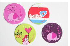 Mini tarjetas I love you/ Te quiero / Te amo / por Tianguisonline